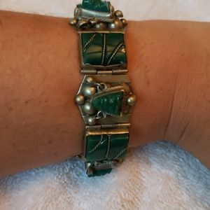 Vintage esterling silver México alpaca bracelet